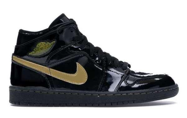 555088-032 Air Jordan 1 High Black Metallic Gold for Sale