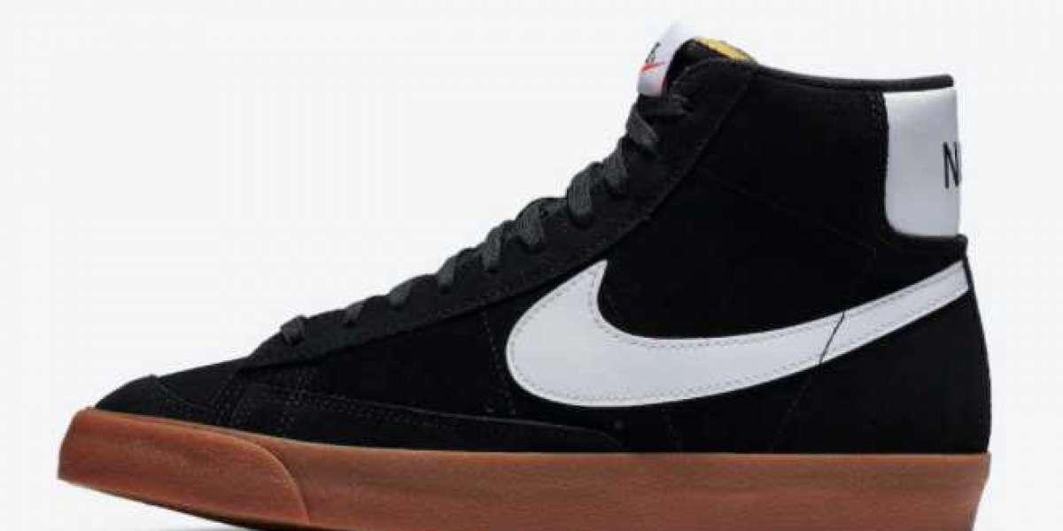 "2020 New Arrival Nike Blazer Mid '77 Vintage Suede ""Black Gum"" Sneakers CI1172-003"